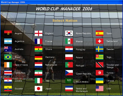 World Cup Manager Screenshot