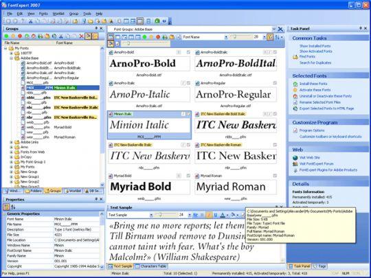FontExpert 2005 Screenshot