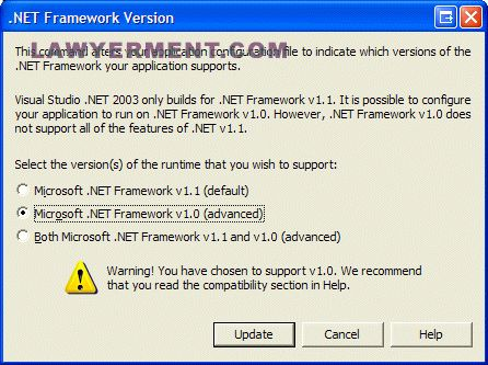 Microsoft .NET Framework Version 1.1 Redistributable Package Screenshot