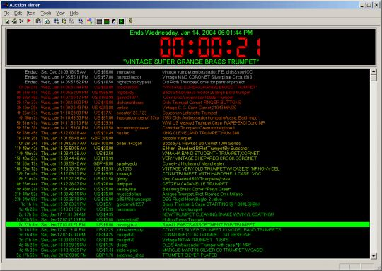 Auction Timer Screenshot