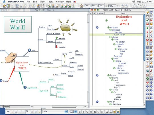 ConceptDraw MINDMAP Professional Mac Screenshot