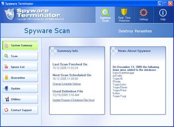 Spyware Terminator Screenshot
