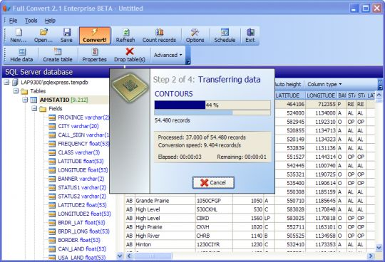 Full Convert SQL Server Edition Screenshot