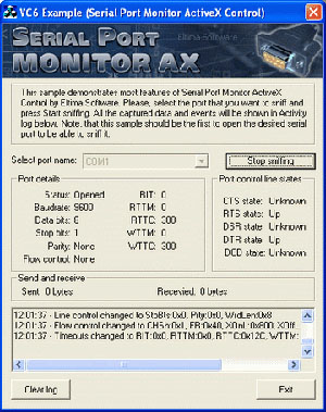 Serial Port Monitor ActiveX Screenshot