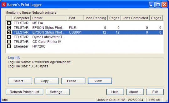 Print Logger Screenshot