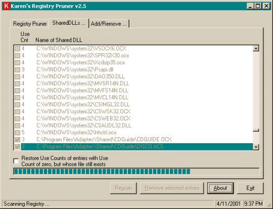 Registry Pruner Screenshot