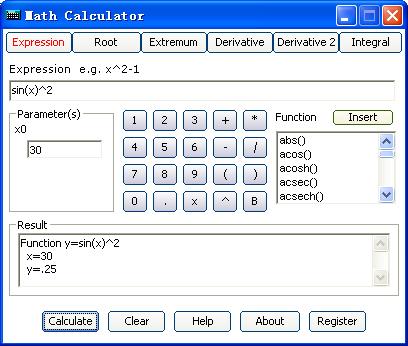 Math Calculator Screenshot