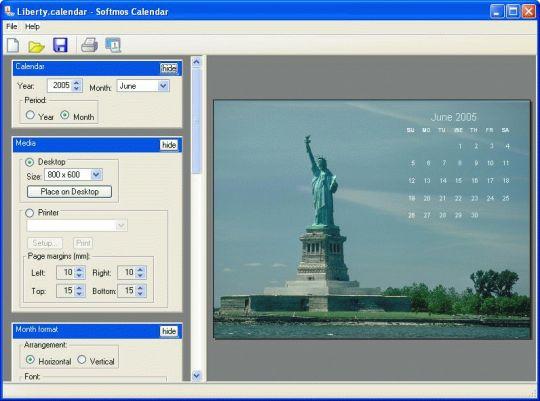 Softmos Calendar Screenshot