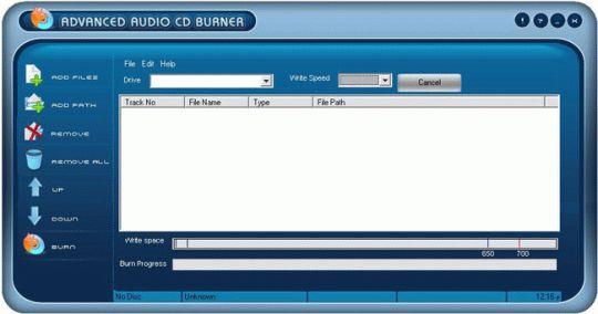 Advanced Audio CD Burner Screenshot