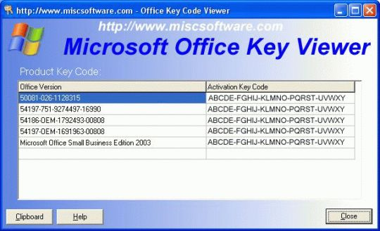 Office Product Key Viewer Screenshot