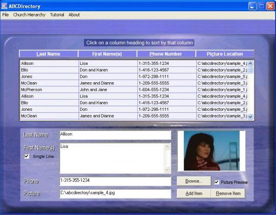 ABCDirectory Screenshot