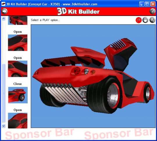 3D Kit Builder (Concept Car - X350) Screenshot