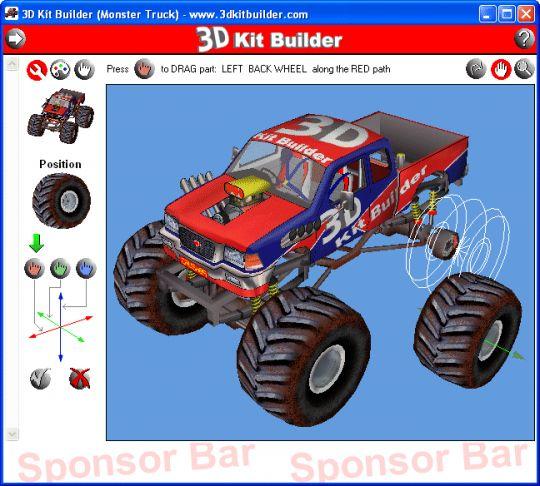 3D Kit Builder (Monster Truck) Screenshot