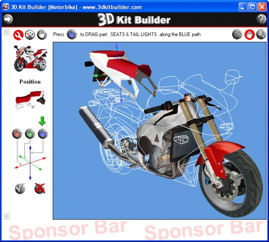 3D Kit Builder (Motorbike) Screenshot