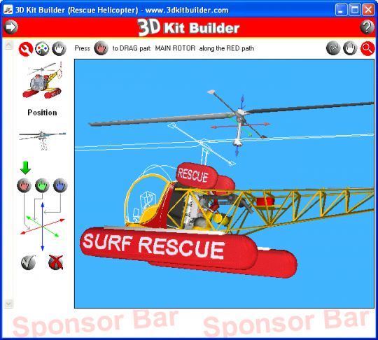 3D Kit Builder (Rescue Helicopter) Screenshot