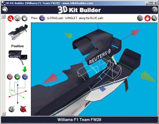 3D Kit Builder (Williams FW28) Screenshot