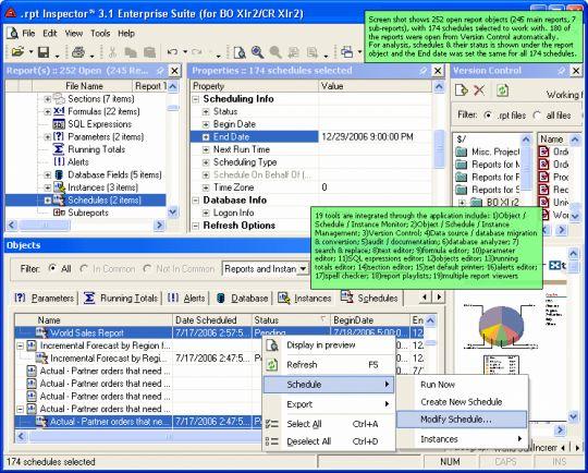 .rpt Inspector Enterprise Suite (for CE 10 / CR 10) Screenshot