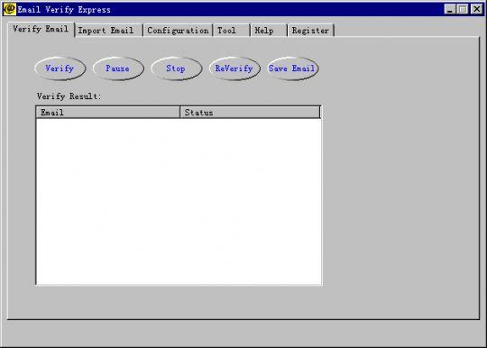 Email Verify Express Screenshot
