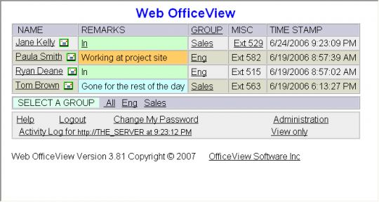 Able Web OfficeView Screenshot