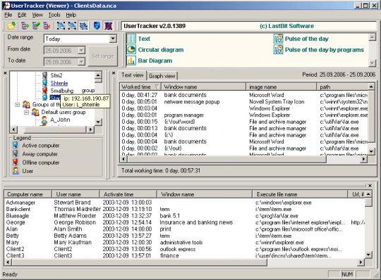 User Tracker Screenshot