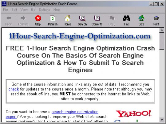 1-Hour Search Engine Optimization Crash Course Screenshot