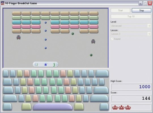 10 Finger BreakOut Screenshot