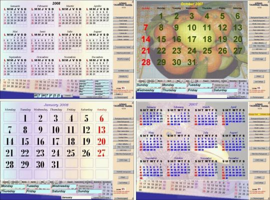 ASMAN Calendar Maker Screenshot