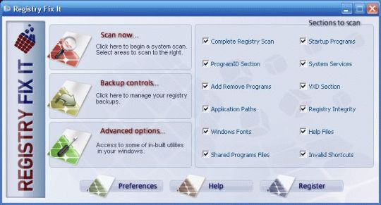 Registry Fix It Screenshot