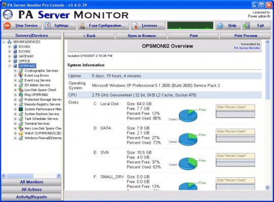 PA Server Monitor Screenshot