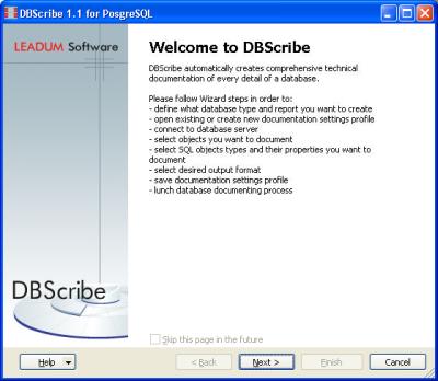 DBScribe Screenshot