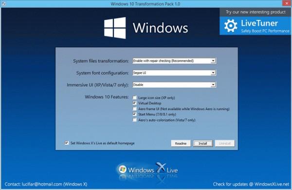 Windows 10 Transformation Pack Screenshot