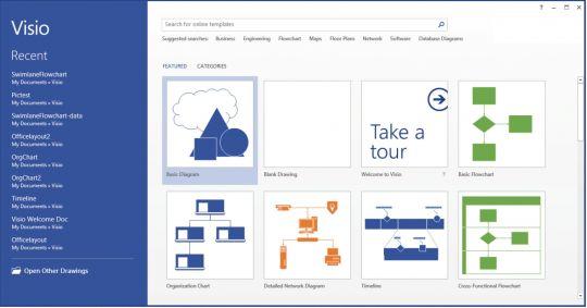 Microsoft Visio Standard Screenshot