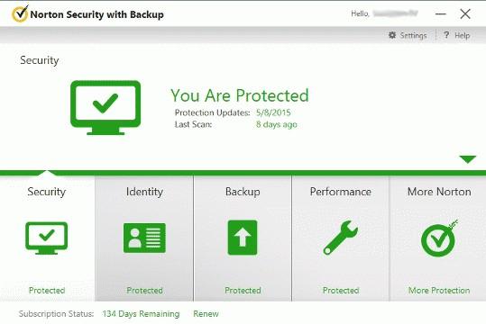 Norton Security Screenshot
