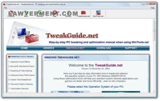 TweakGuide.net Screenshot