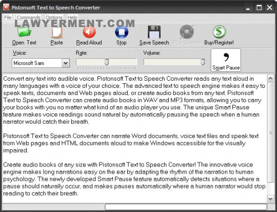 Pistonsoft Text to Speech Converter 1 8 0 15