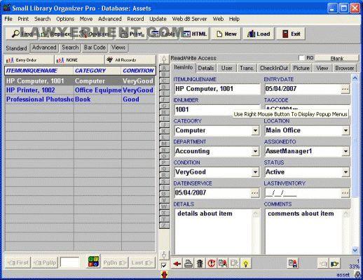 Asset Organizer Pro Screenshot