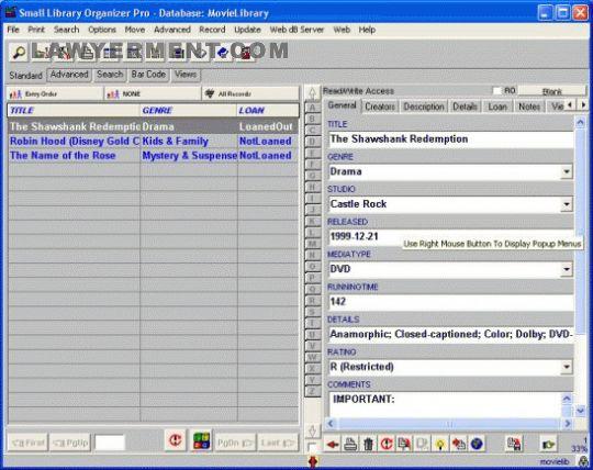Movie Library Organizer Pro Screenshot