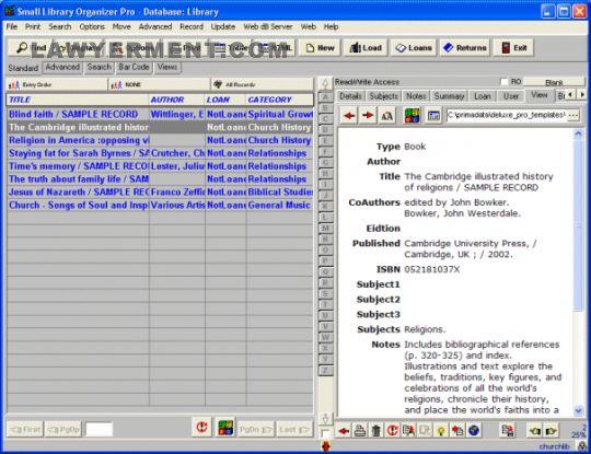 Church Library Organizer Pro Screenshot