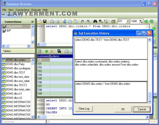 Database Browser Standard Screenshot