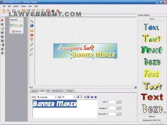 EximiousSoft Banner Maker Screenshot
