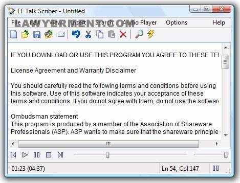 EF Talk Scriber Screenshot