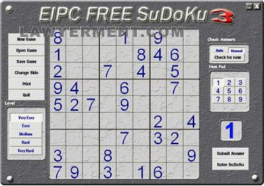 EIPC FREE SuDoKu Screenshot
