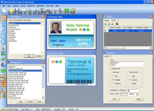Advanced ID Creator Professional Screenshot