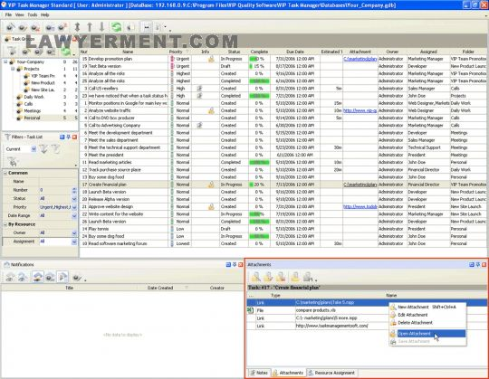 VIP Task Manager Standard Screenshot