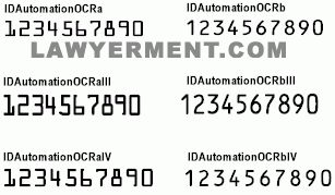 IDAutomation OCR-A and OCR-B Font Package Screenshots - Free