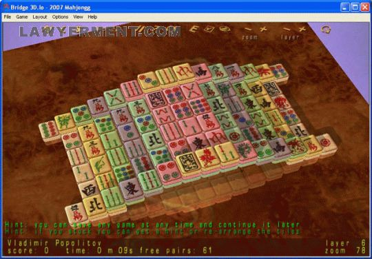 2010 Mahjongg Screenshot