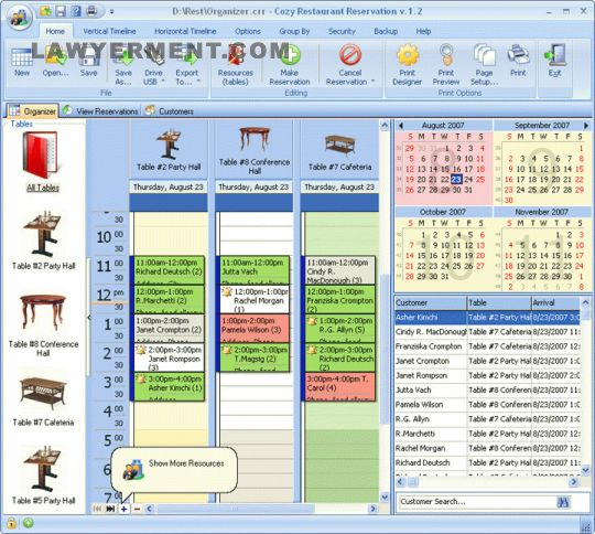 CozyRestaurant Reservation for Workgroup Screenshot