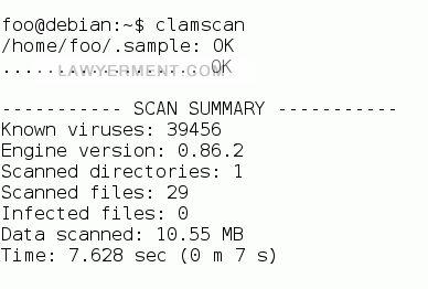 Clam AntiVirus (ClamAV) Screenshot