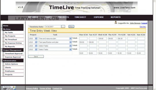 TimeLive Screenshot