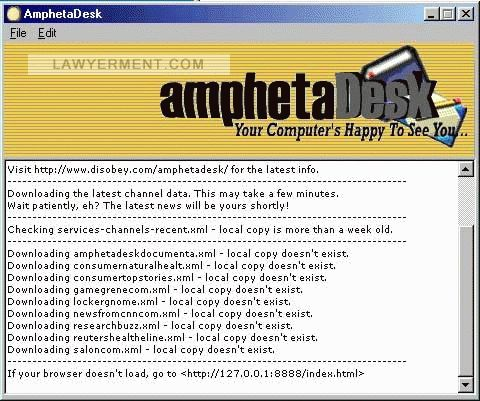 AmphetaDesk Screenshot